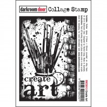 Darkroom Door Create Art Cling Foam Mounted Rubber Collage Stamp DDCS013