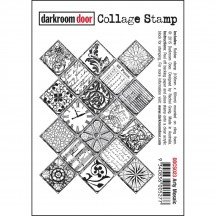 Darkroom Door Arty Mosaic Cling Foam Mounted Rubber Collage Stamp - DDCS023