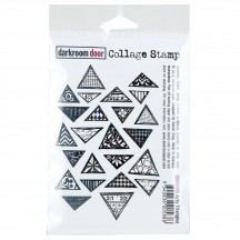 Darkroom Door Arty Triangles Cling Foam Mounted Rubber Collage Stamp - DDCS026