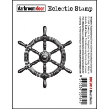Darkroom Door Rubber Eclectic Stamp - Boat Helm DDES014