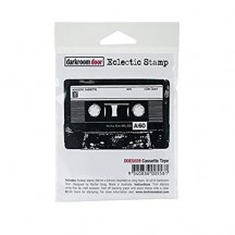 Darkroom Door Cassette Tape Eclectic Cling Rubber Stamp - DDES028