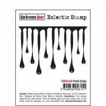 Darkroom Door Paint Drips Eclectic Cling Rubber Stamp DDES040