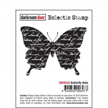 Darkroom Door Butterfly Note Cling Mounted Rubber Eclectic Stamp DDES043