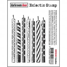 Darkroom Door Candles Eclectic Cling Rubber Stamp DDES048