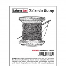 Darkroom Door Needle and Thread Cling Mounted Rubber Eclectic Stamp DDES050