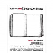 Darkroom Door Mini Open Book Rubber Eclectic Stamp DDES054