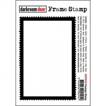 Darkroom Door Cling Foam Mounted Rubber Frame Stamp - Postage Stamp DDFR020