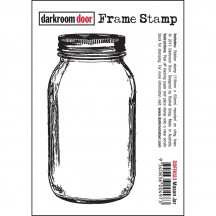 Darkroom Door Cling Foam Mounted Rubber Frame Stamp - Mason Jar DDFR023