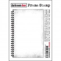 Darkroom Door Cling Foam Mounted Rubber Frame Stamp - Spiral Notebook DDFR029