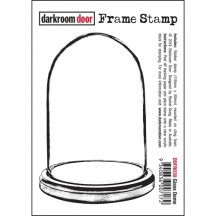 Darkroom Door Cling Foam Mounted Rubber Frame Stamp - Glass Dome DDFR030