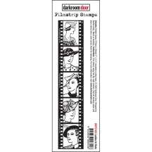 Darkroom Door Filmstrip Ladies in Hats Cling Rubber Stamp DDFS106
