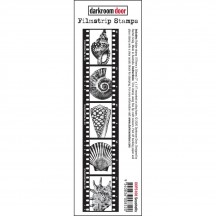 Darkroom Door Filmstrip Sea Shells Cling Rubber Stamp DDFS108