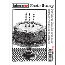 Darkroom Door Rubber Photo Stamp - Birthday Cake - DDPS013