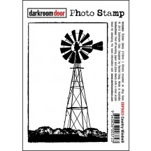 Darkroom Door Rubber Photo Stamp - Country Windmill - DDPS023
