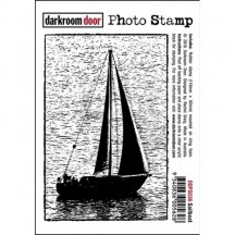 Darkroom Door Sailboat Rubber Photo Stamp - DDPS036