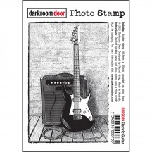 Darkroom Door Electric Guitar Cling Mounted Rubber Photo Stamp DDPS049