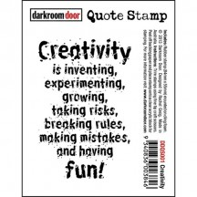 Darkroom Door Cling Rubber Quote Stamp - Creativity DDQS001