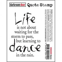 Darkroom Door Cling Rubber Quote Stamp - Dance DDQS009
