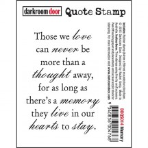 Darkroom Door Cling Rubber Quote Stamp - Memory DDQS014