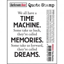 Darkroom Door Rubber Quote Stamp - Time Machine DDQS033