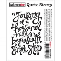Darkroom Door Rubber Quote Stamp - A Thousand Miles DDQS034