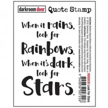 Darkroom Door Rubber Quote Stamp - Look For Stars DDQS035