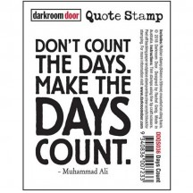 Darkroom Door Rubber Quote Stamp - Days Count DDQS036