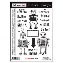 Darkroom Door Robot Vol 2 Cling Foam Mounted Rubber Stamps - DDRS015