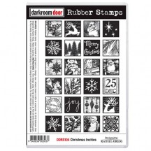 Darkroom Door Cling Foam Mounted Rubber Stamps - Christmas Inchies DDRS104