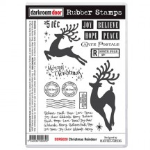 Darkroom Door Rubber Stamps - Christmas Reindeer DDRS020