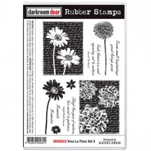 Darkroom Door Viva La Flora Vol 2 Cling Foam Mounted Rubber Stamps - DDRS022