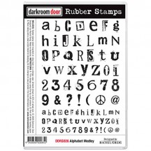 Darkroom Door Alphabet Medley Cling Foam Mounted Rubber Stamps DDRS026