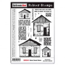 Darkroom Door Home Sweet Home Cling Foam Mounted Rubber Stamps - DDRS041