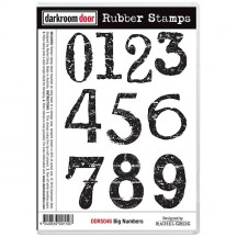 Darkroom Door Big Numbers Cling Foam Mounted Rubber Stamps DDRS046