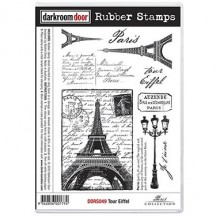 Darkroom Door Tour Eiffel Rubber Stamps DDRS049