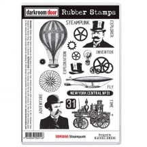 Darkroom Door Steampunk Cling Foam Mounted Rubber Stamps - DDRS068