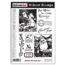 Darkroom Door Rubber Art Stamps - Dear Santa Volume 1 DDRS075