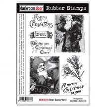 Darkroom Door Rubber Art Stamps - Dear Santa Volume 2 DDRS076