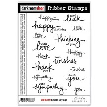 Darkroom Door Cling Foam Mounted Rubber Stamps - Simple Sayings DDRS119