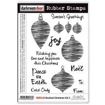 Darkroom Door Cling Mounted Rubber Art Stamps - Brushed Christmas Volume 2 DDRS136