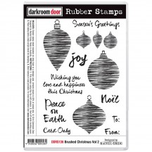 Darkroom Door Brushed Christmas Volume 2 Cling Mounted Rubber Art Stamps DDRS136