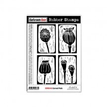 Darkroom Door Cling Mounted Rubber Art Stamps - Carved Pods DDRS145