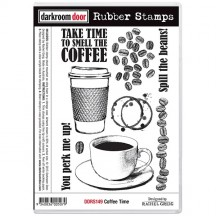 Darkroom Door Coffee Time Cling Foam Mounted Rubber Stamps DDRS149