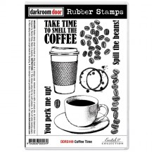 Darkroom Door Cling Mounted Rubber Art Stamps - Coffee Time DDRS149