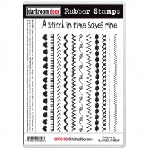 Darkroom Door Stitched Borders Cling Foam Mounted Rubber Stamps DDRS150