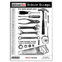 Darkroom Door Cling Mounted Rubber Art Stamps - Tool Shed DDRS151