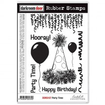 Darkroom Door Party Time Cling Foam Mounted Rubber Stamps - DDRS157