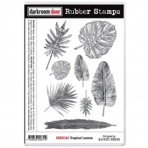 Darkroom Door Tropical Leaves Cling Foam Mounted Rubber Stamps - DDRS183