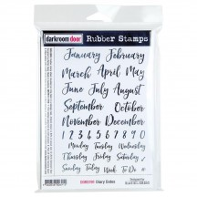 Darkroom Door Diary Dates Cling Foam Mounted Rubber Stamps DDRS191