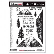 Darkroom Door Majestic Mountains Cling Foam Mounted Rubber Stamps DDRS193